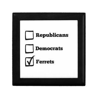 一突きのフェレット! 政治選挙のフェレットのプリント ギフトボックス