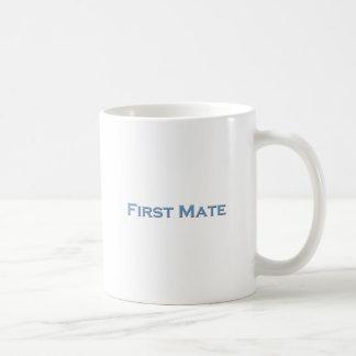 """""""一等航海士""""の船遊びの文字のロゴ コーヒーマグカップ"""