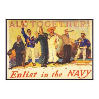 一緒にすべて! 海軍世界大戦1 1917年で入隊して下さい キャンバスプリント
