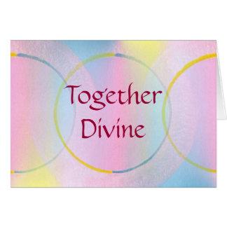 一緒に神の前向きな断言 カード