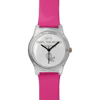 一緒に走行しよう世界 腕時計