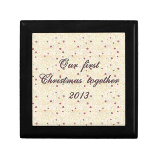 一緒の私達の初めてのクリスマス、美しいデザイン ギフトボックス