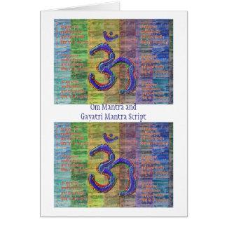 一緒のOM信念のGayatri信念 カード