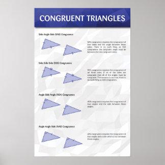 一致した三角形 ポスター