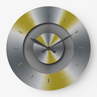 一致する暗く黄色い強調色 ラージ壁時計