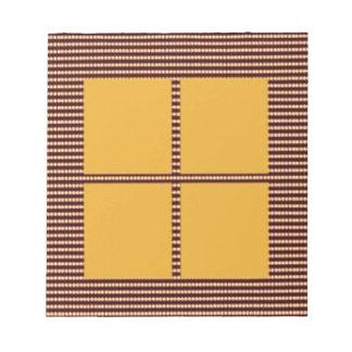 一致のテーマは-絹のサテンのアクリルの一見を平方します ノートパッド