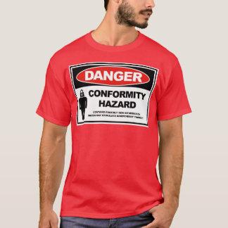 一致の危険 Tシャツ