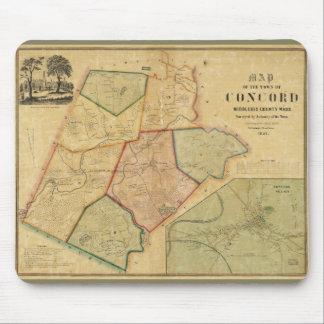 一致マサチューセッツ(1852年)の地図 マウスパッド