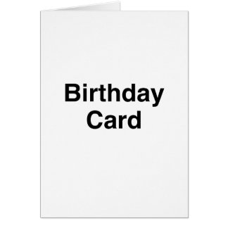 一般的なバースデー・カード グリーティングカード