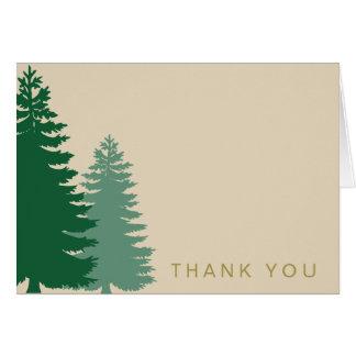 一般的な松の木の金ゴールドは感謝していしています カード