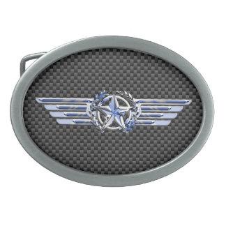 一般的な私用空気パイロットのクロムは星の翼を好みます 卵形バックル