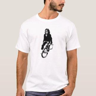 一輪車のワイシャツの人の猿 Tシャツ