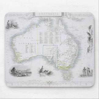 一連の世界地図からのオーストラリアは、bを出版しました マウスパッド