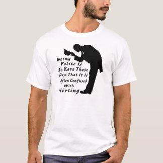 丁寧ありますであることは従ってまれそれはもてあそぶ混同したwです tシャツ