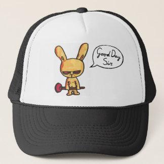 丁寧な怒っているウサギ キャップ