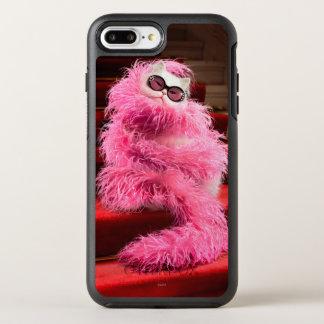 丁重のピンクのボアで包まれたな花型女性歌手の白い猫 オッターボックスシンメトリーiPhone 8 PLUS/7 PLUSケース