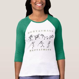 七種競技のワイシャツの陸上競技 Tシャツ