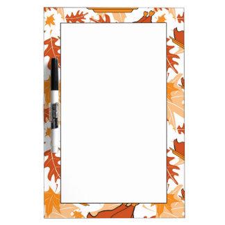 七面鳥が付いている秋の継ぎ目が無いパターン ホワイトボード