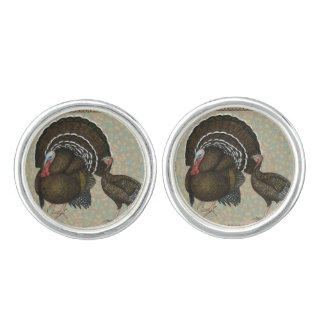 七面鳥の標準的な青銅色のポートレート カフスボタン