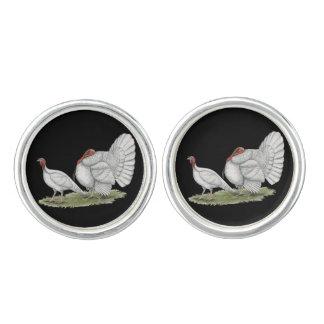 七面鳥の白オランダ カフボタン