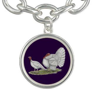 七面鳥の白オランダ チャームブレスレット