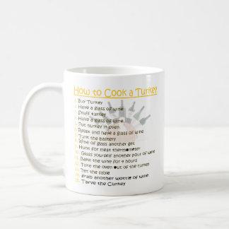 七面鳥を調理する方法: おもしろい コーヒーマグカップ