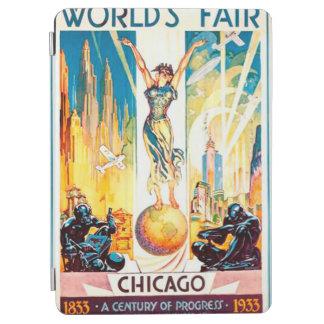 万国博覧会のシカゴ1933年の広告ポスター iPad AIR カバー