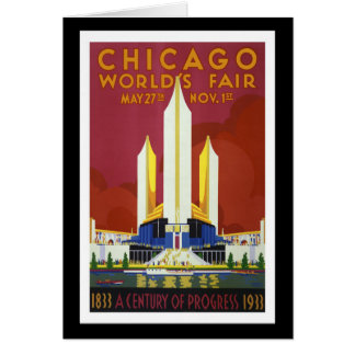 """""""万国博覧会、シカゴの1933年""""のヴィンテージ カード"""