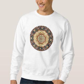 万華鏡のように千変万化するパターンのカーペットのスエットシャツ スウェットシャツ