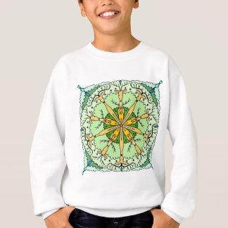万華鏡のように千変万化するパターンのシカ スウェットシャツ
