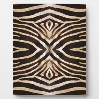 万華鏡のように千変万化するパターンのシマウマの毛皮パターン フォトプラーク