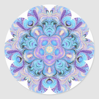 万華鏡のように千変万化するパターンのステッカー ラウンドシール