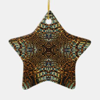 万華鏡のように千変万化するパターンのトラの毛皮パターン セラミックオーナメント