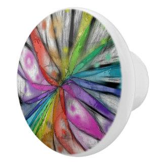 万華鏡のように千変万化するパターンのトンボ セラミックノブ