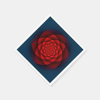 万華鏡のように千変万化するパターンのバラの赤 スタンダードカクテルナプキン
