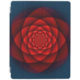 万華鏡のように千変万化するパターンのバラの赤 iPadスマートカバー