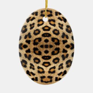 万華鏡のように千変万化するパターンのヒョウの毛皮パターン セラミックオーナメント