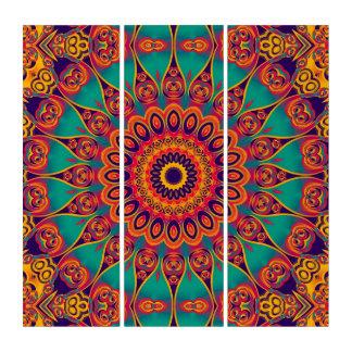 万華鏡のように千変万化するパターンのフラクタル-入れ墨II + あなたのアイディア トリプティカ