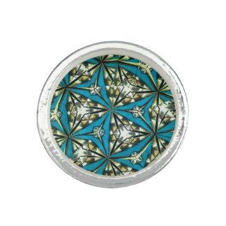 万華鏡のように千変万化するパターンのリング 指輪