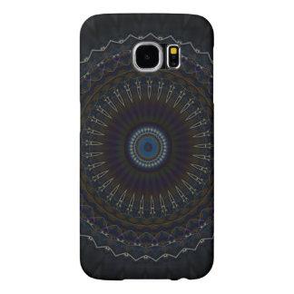 万華鏡のように千変万化するパターンの曼荼羅のデザインのSamsungの銀河系S6の箱 Samsung Galaxy S6 ケース