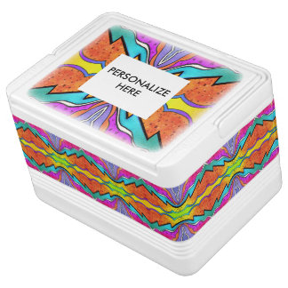 万華鏡のように千変万化するパターンの水彩画 IGLOOクーラーボックス