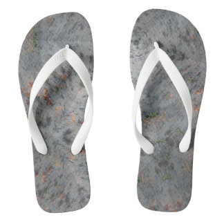 万華鏡のように千変万化するパターンの砂浜のフリップフロップ ビーチサンダル