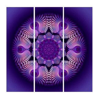 万華鏡のように千変万化するパターンの(骨)突起の花1 トリプティカ