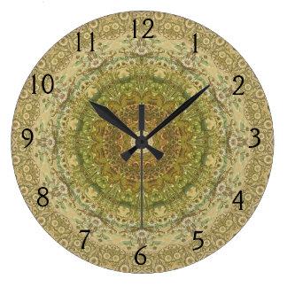 万華鏡のように千変万化するパターンのKreation No.SC4の時計 ラージ壁時計