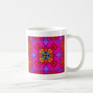 万華鏡のように千変万化するパターンのKreationsのネオン4無し コーヒーマグカップ