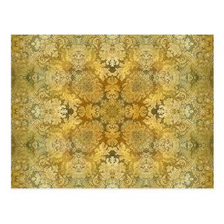 万華鏡のように千変万化するパターンのKreationsのヴィンテージのバロック1 ポストカード