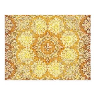 万華鏡のように千変万化するパターンのKreationsレモンタペストリー4 ポストカード