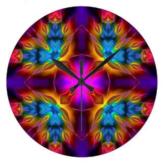 万華鏡のように千変万化するパターンのKreations B1の円形の時計 ウォールクロック