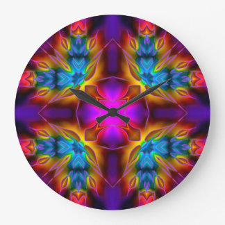 万華鏡のように千変万化するパターンのKreations B1の円形の時計 ラージ壁時計