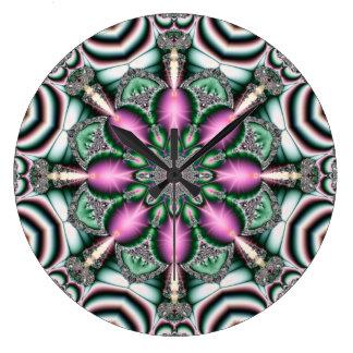 万華鏡のように千変万化するパターンのKreations HS3の円形の時計 時計